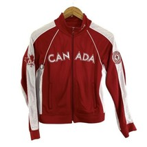 Roots Canada 2004 Winter Olympic Team Zip Up Lightweight Jacket In Red W... - $29.69