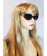VERSACE Dioptric Sunglasses Black Gold Frames Crystals Aviator Square MO... - $185.15