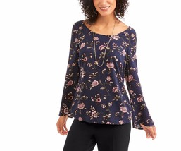 Faded Glory Women's Elevated Tunic Blouse W Cross Back Detail Size Small 4-6 - $16.82