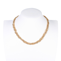 UE- Sophisticated Gold Tone Inter-Woven Designer Necklace - $25.99