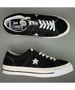 Converse One Star Patta x Deviation Low Top Shoes Mens Size 11 Black White - $107.51