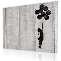 CANVAS (Rolled) Girl With Balloon Flying West Bank Banksy Oil Paintings ... - $13.02+
