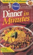 PIllsbury Classic Cookbooks Oct 1991 DINNER IN MINUTES #128 15-30 Minute... - $5.26