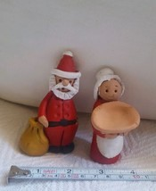 Rare & hard to find Barbara Leadabrand Original clay figurines Mr. & Mrs. Santa - $24.75
