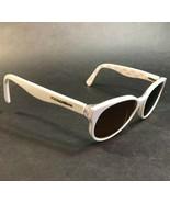 Dolce & Gabbana Bianco Rotondo Gatti Occhio Occhiali da Sole Montature D... - $111.85
