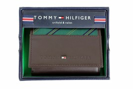Tommy Hilfiger Men's Leather Credit Card Wallet Passcase Trifold 4311/02