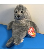 1996 BEANIE BABIES PLUSH STUFFED ANIMAL RETIRED TY TAG SLIPPERY SEAL HOL... - $19.75
