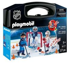 PLAYMOBIL NHL Shootout Carry Case 9177 27 pc NHL Figures 2017 Hockey Toy - $14.98