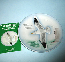 "Goebel Wildlife Collectors Wall Plate SILVER SEA GULL 5th Edt. 7.5"" Bas Relief - $17.90"