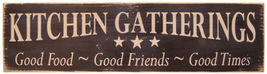 """New Kitchen Gatherings Messenger Sign Farmhouse Country Decor 18""""W x 5""""H  - $32.49"""