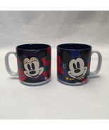 Set of 2 Disney Christmas Holiday Mickey Minnie Mouse Cups Mugs Collectible - $29.69
