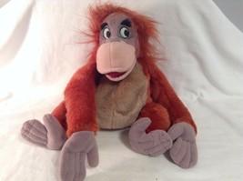 "Disney King Louie Jungle Book Plush Bean Bag Ape Gorilla 11"" tall Stuffed ANimal - $12.70"