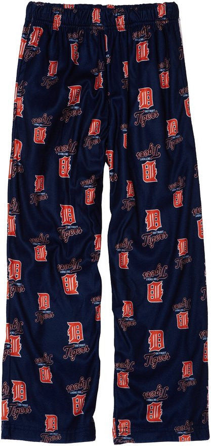 Boy's 8-20 Detroit Tigers Pajama Pants MLB Lounge Sleep Bottoms