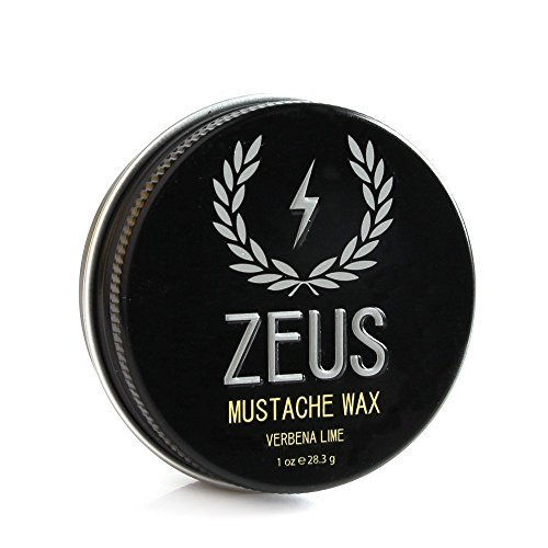 Zeus Mustache Wax - 1 Oz - Light hold, conditioning Wax for Men! Single