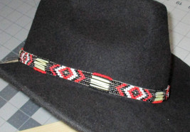 "Custom Made Southwestern Style! ""One Eye Red""  Porcupine Quills & Glass ... - $84.00"