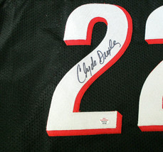 CLYDE DREXLER / NBA HALL OF FAME / AUTOGRAPHED TRAIL BLAZERS CUSTOM JERSEY / COA image 4