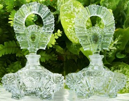 """2 Vintage Perfume Bottles~Perfectly Matching Pair~MINT~6""""~RARE~Very Coll... - $179.99"""