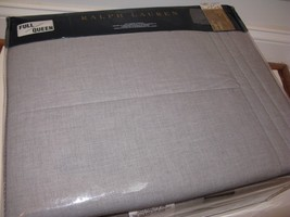 Ralph Lauren GREY HABERDASHERY HOXTON Full Queen Quilted Coverlet NEW - $151.95