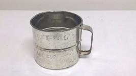 Vintage Stainless Steel 2 Cup Strainer Wire Screen Bottom - $9.80