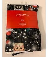 Wondershop Christmas Critter Kittys Llamas ...Fleece Lined  Leggings Bla... - $14.85