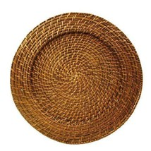 """Set of (3) Brown Harvest Rattan Charger Plates Round 13""""- Free FAST SHIP... - $24.95"""