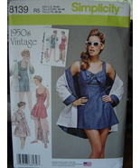 Pattern 8139 Retro Bathing Dress and Beach Coat sizes 14-22 - $6.99