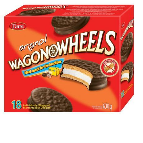 Primary image for Dare Original Wagon Wheel Marshmallow Cookies 4 boxes of 18 Truly Canadian