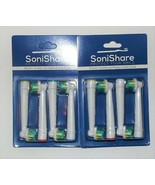 8 Pack SoniShare Oral B Floss Action Electric Toothbrush Replacement Bru... - $21.33