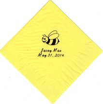 BUMBLE BEE LOGO 50 Personalized printed cocktail beverage napkins - $10.88+