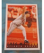 1995 Topps Bazooka Red Hot #RH-1 Greg Maddux Atlanta Braves Baseball Card - $1.00