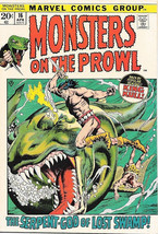 Monsters On The Prowl Comic Book #16 King Kull Marvel 1972 VERY FINE - $20.24