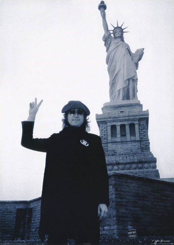 John lennon statue of liberty poster peace 24 x 36