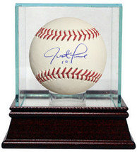 Justin Turner signed Rawlings Official Major League Baseball w/ Glass Ca... - $154.95