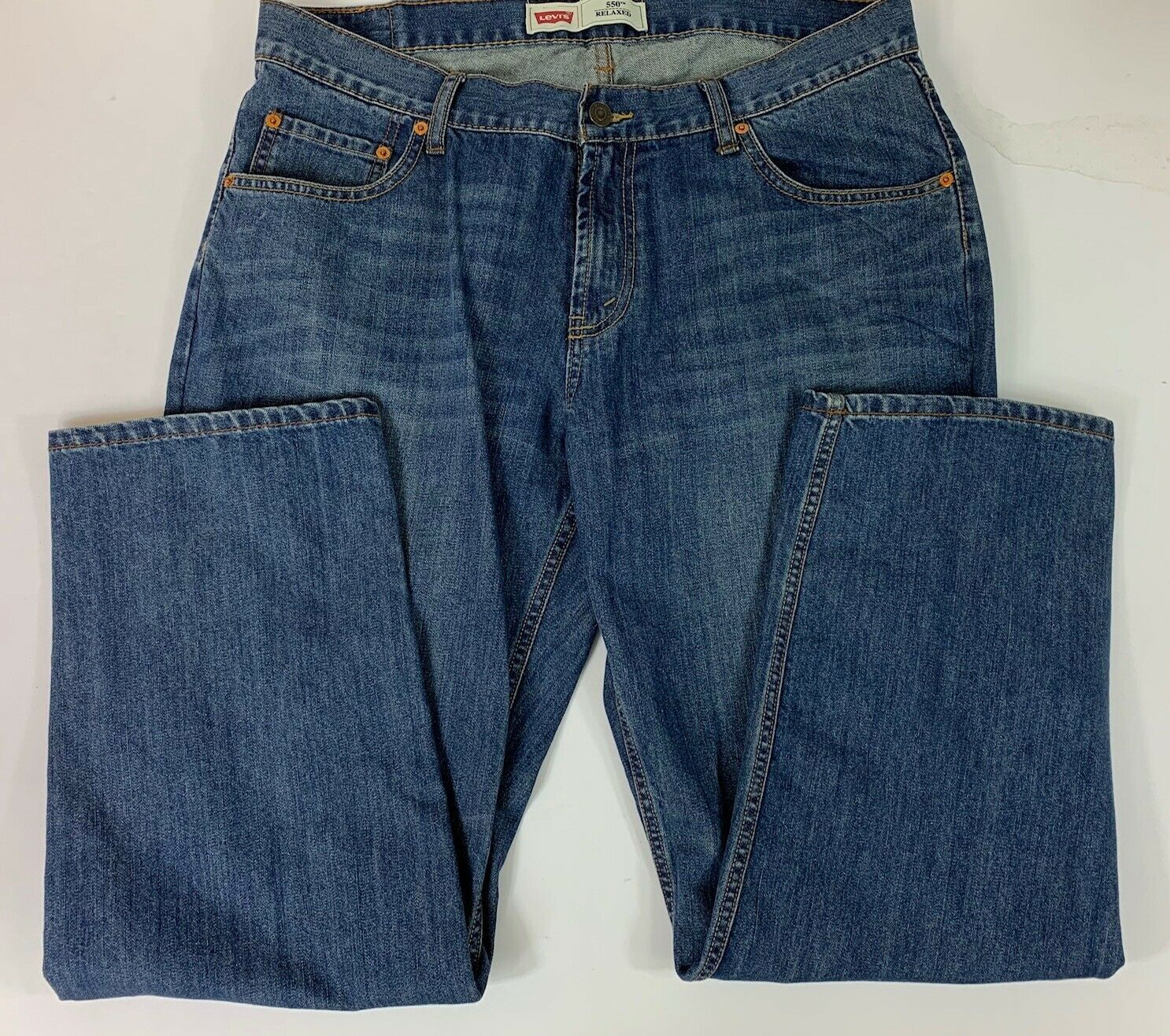 LEVI  550 BOY'S RELAXED FIT JEANS 18 Husky 36 x 29  image 3