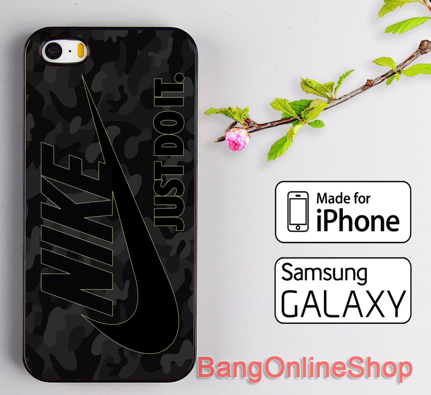 Nike Just Do It Black Camo Style iPhone 8 8+ 7 7+ 6 6s 6+ 6s+ 5 5s Samsung Case for sale  USA