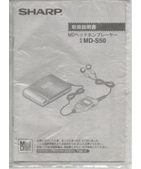 Sharp MD -S50 - Mini-Disc - Japanese and English Operations Manual. - $0.97