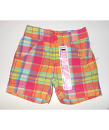 Circo Infant Toddler Girls Shorts Plaid Colorful Sizes 12M, 3T or 4T NWT - $5.09