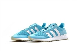 Adidas Flashback Women's Sneaker BY9306 Ice Blue/Pearl Grey/Gum Shoes Size 8.5 - $89.99