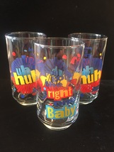 """Set of 3 Vintage 90s Diet Pepsi """"You Got the right one baby"""" Promo Tumblers image 1"""