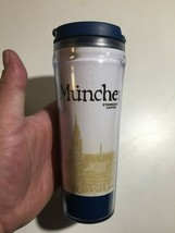 Starbucks Coffee Mug Munchen Germany Collectible 16 oz Clear Tumblr W Lid - $24.74