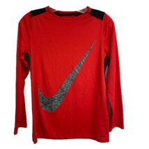 Nike dri-Fit youth boys port tshirt red long sleeve size L/G - $16.82