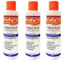 3 Gluta C Glutathione & Vitamin C with Kojic Plus Whitening  Acne Contro... - $15.84