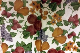 "Superior Tablecloth Vinyl Flannel Back, 52"" X 52"" SQUARE (4 ppl) FRUITS,... - $14.84"