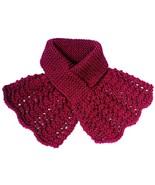 Hand Knit Ladies Burgundy Scarf - $35.00