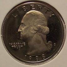 1988-S Deep Cameo Proof Clad Washington Quarter #0598 - $4.29