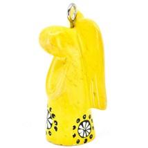 Tabaka Chigware Hand Carved Kisii Soapstone Yellow Angel Ornament Made in Kenya image 2