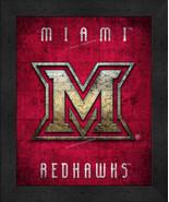 "Miami of Ohio Redhawks ""Retro College Logo Map"" 13x16 Framed Print  - $39.95"