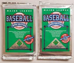 1990 Upper Deck Baseball Lot of 2 (Two) Sealed Unopened Packs Reggie Jackson. - $11.86