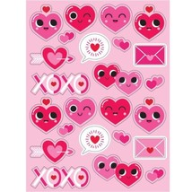 Emoji Valentines Day Heart Stickers on 4 Sheets 96 total - €2,21 EUR