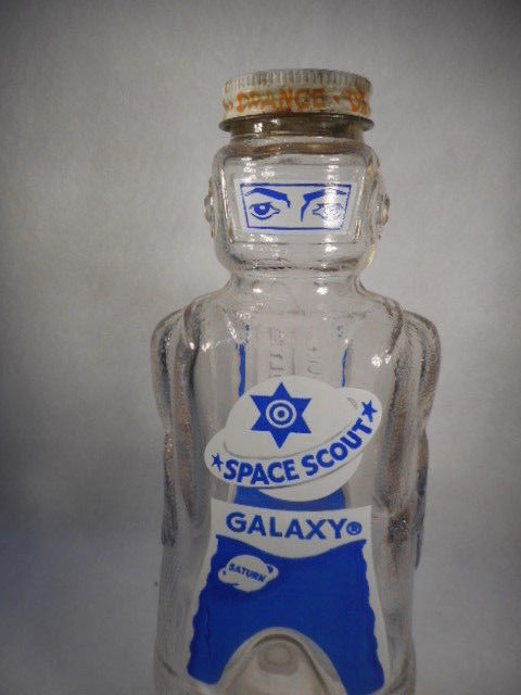 Vintage Space Scout Galaxy Orange Syrup Bottle Bank